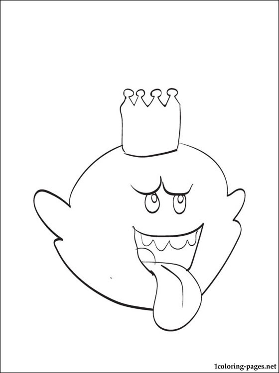 560x750 King Boo Mario Printable Coloring Page Coloring Pages