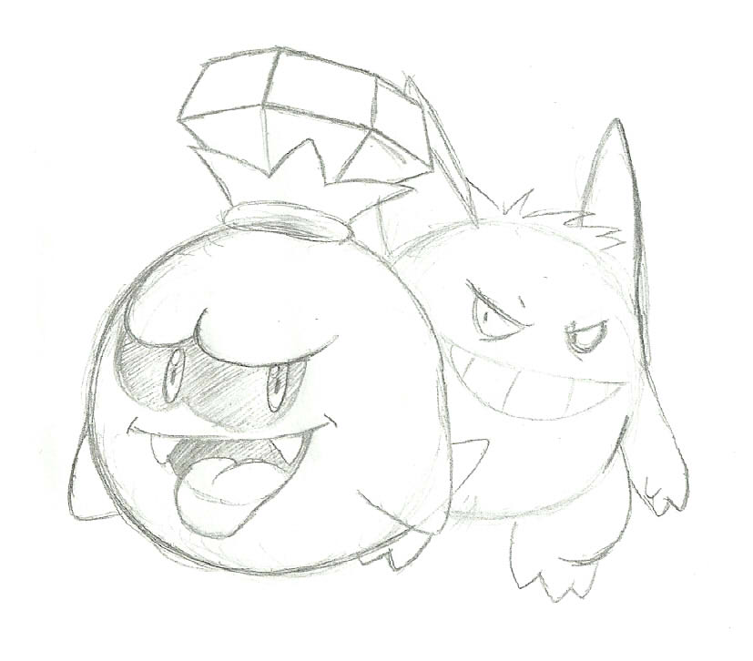 827x726 King Boo And Gengar By Poker10403