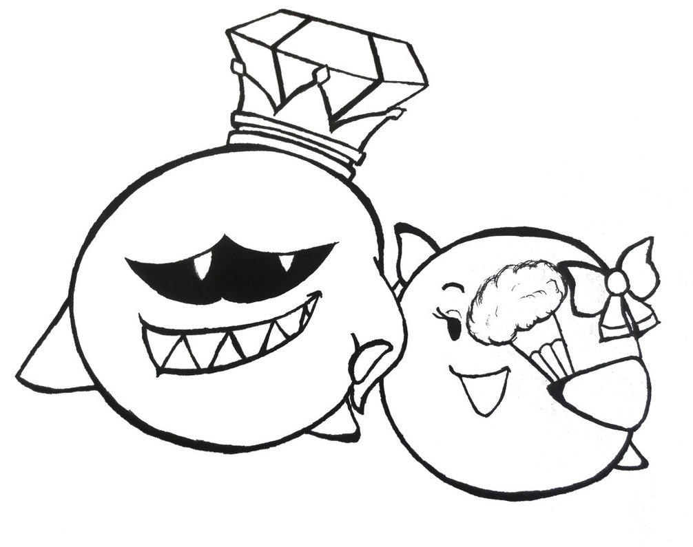 1006x795 King Boo And Lady Bow By Gamefanman