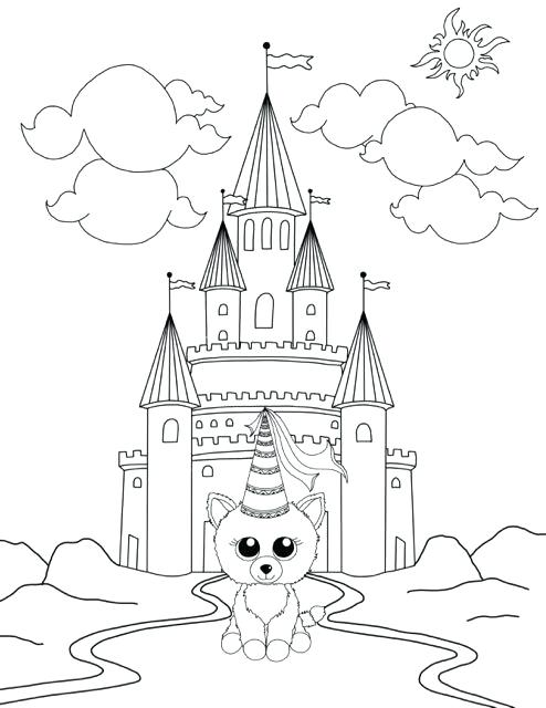 494x640 Beanie Boo Coloring Pages King Boo Coloring Pages Beanie Boo