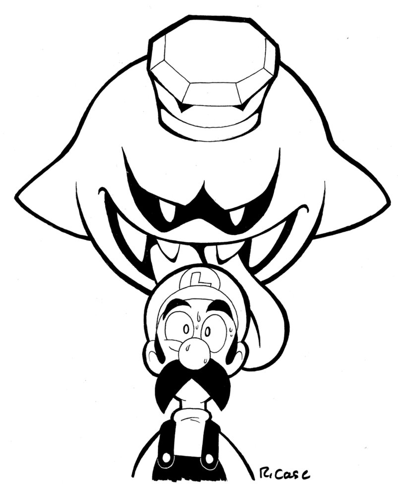 803x994 Luigi And King Boo By Rongs1234