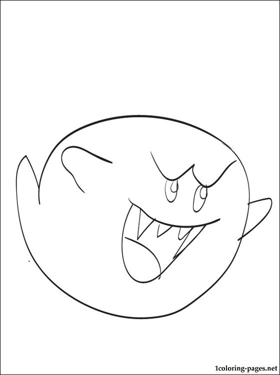 560x750 Mario Coloring Pages Boo Printable To Good Paint King Clipart Best