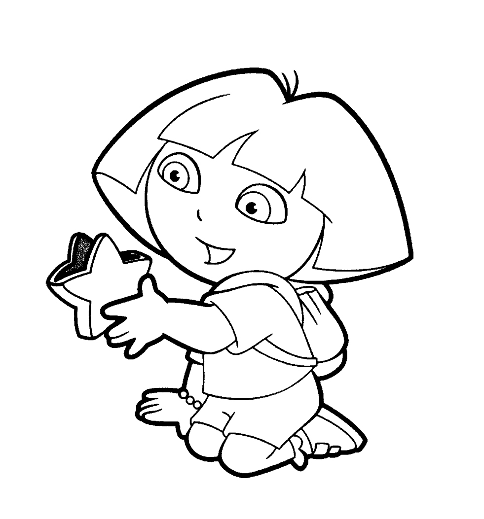 981x1053 Dora Coloring Pages To Print See A Picture