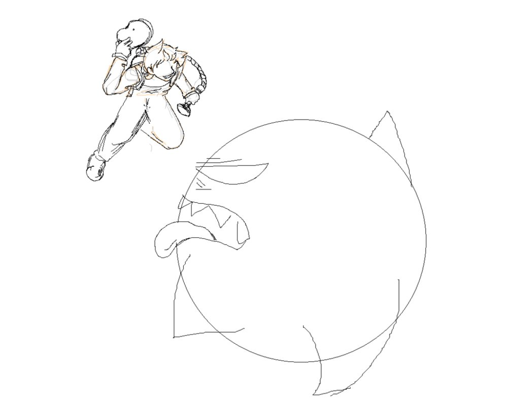 999x799 Request) Luigi Fighting King Boo(Unfinished) By 12luigi