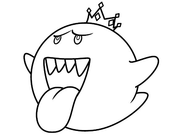 600x450 Coloring Page From Boo Amp King Boo