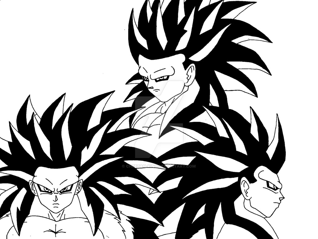 1024x770 Sangoku Ssj4 (Ascended Grade 2) Lineart By Cheetah King