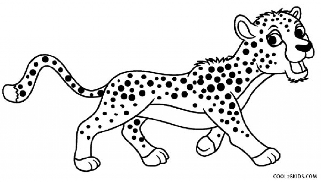 1024x580 Cheetah Coloring Pictures