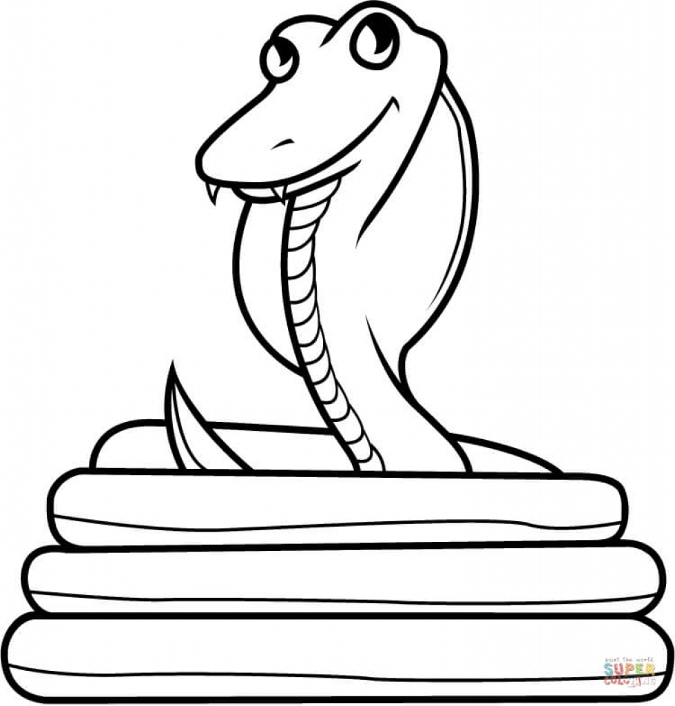 980x1024 Drawing King Cobra Coloring Pages Kids Play Color Free Printable