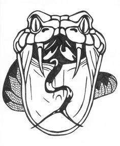 236x286 Drawn Cobra Open Mouth