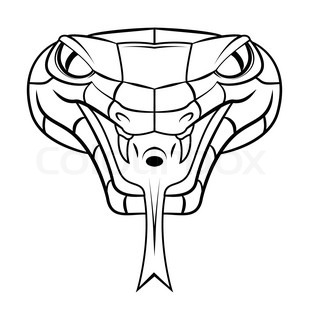 309x320 Drawn Serpent Snake Head