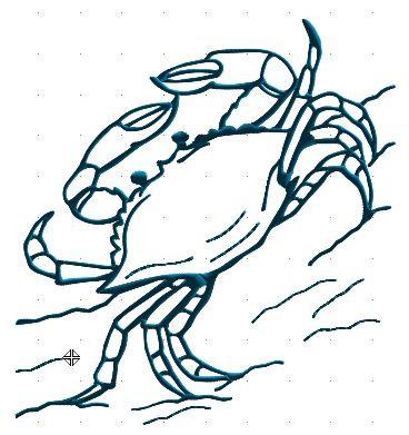 368x391 Drawn Crab Blue Crab