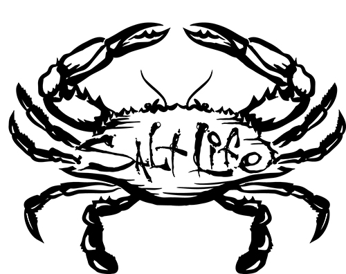 500x396 Salt Life Salty Crab Decal