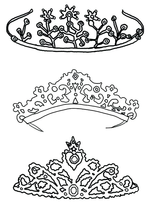 600x844 Crown Coloring Pages King And Queen Crown Coloring Pages Triple