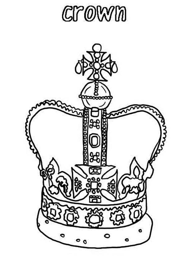 600x844 Design Of King Crown In Princess Crown Coloring Page