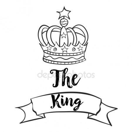 450x450 Doodle Of King Crown Collection Stock Vector Kongvector