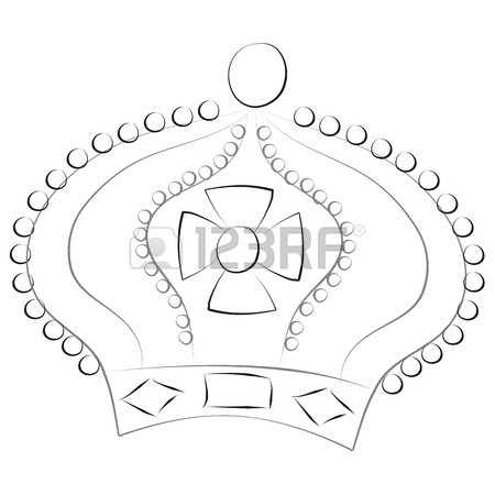 450x450 Hand Drawn King Crown Royalty Free Cliparts, Vectors, And Stock