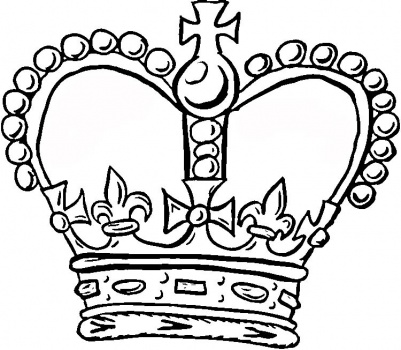 401x350 King Crown Coloring Page