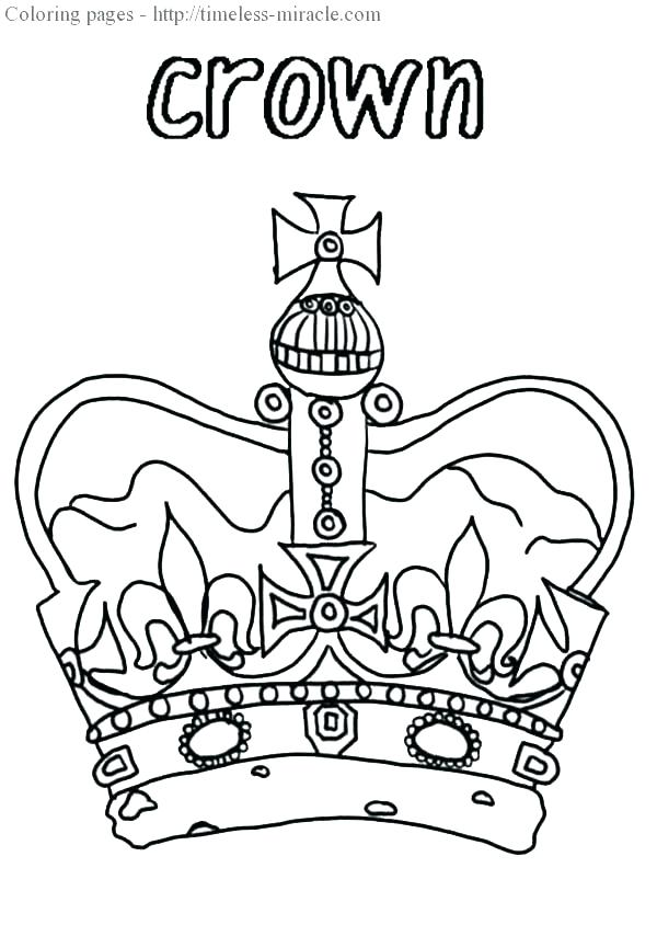 600x844 Crown Coloring Page