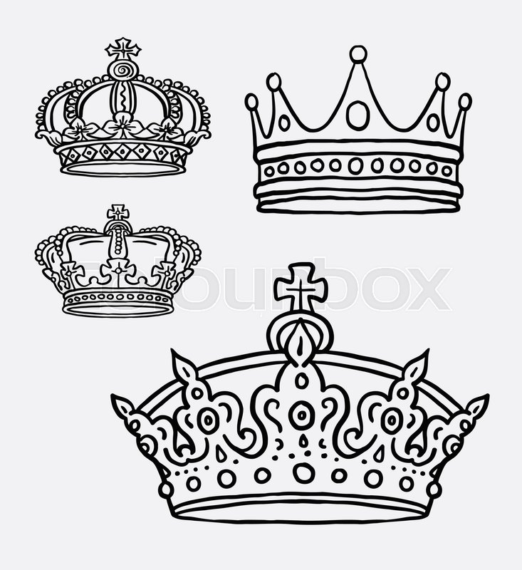 733x800 Crown, The King Symbol Hand Drawing. Good Use For Symbol, Logo