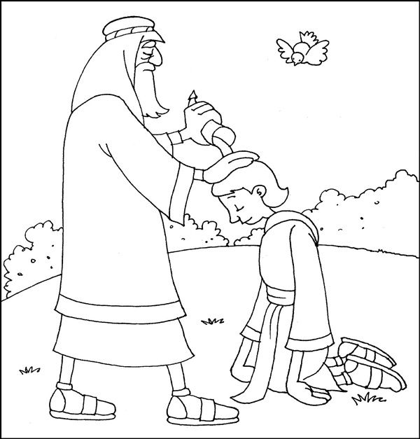 600x627 King David Bible Coloring Pages