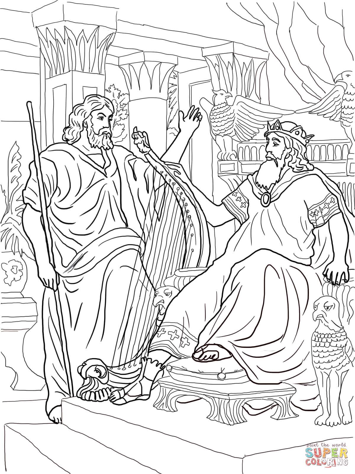 1200x1600 King David And Nathan Coloring Page Free Printable Coloring Pages