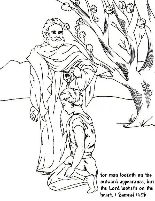 600x778 Samuel Anointed David As A King In The Story Of King Saul Coloring