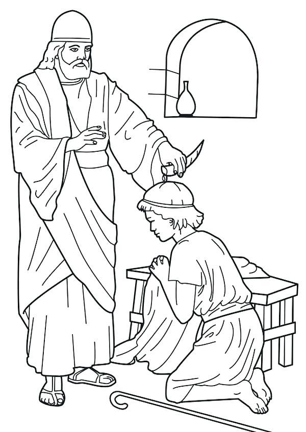 600x848 King David Bible Coloring Pages Genesisar.co