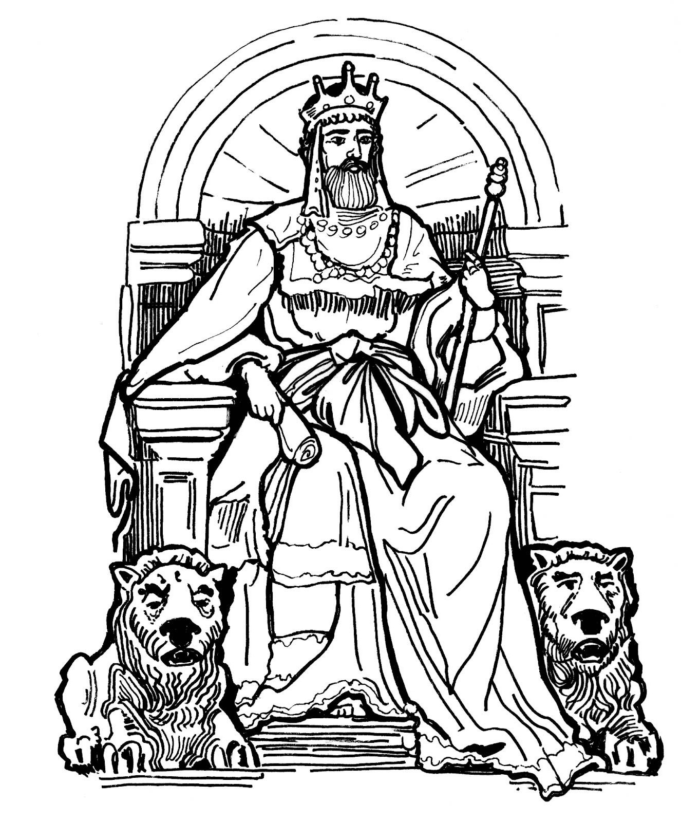 1326x1600 King On Throne Drawing