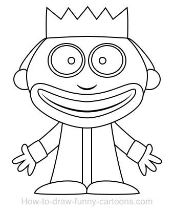 340x416 Drawing A King Cartoon