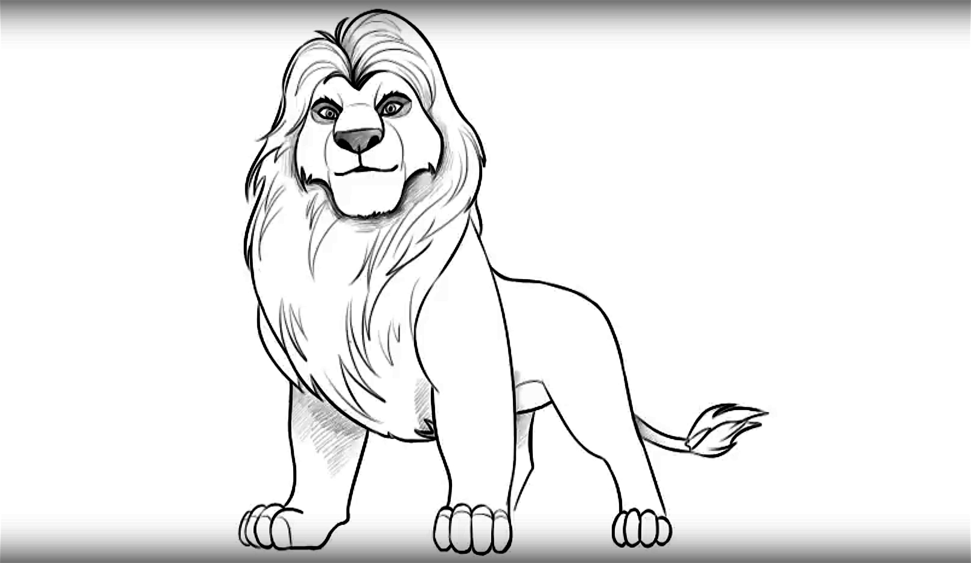 3166x1836 How To Draw Mufasa From Lion King