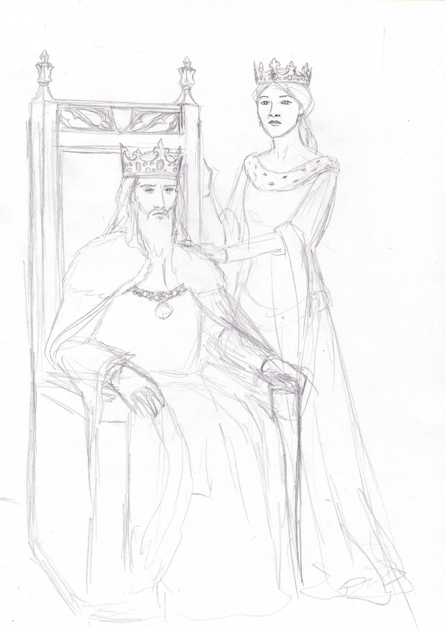 900x1274 King And Queen Sketch By Dashinvaine