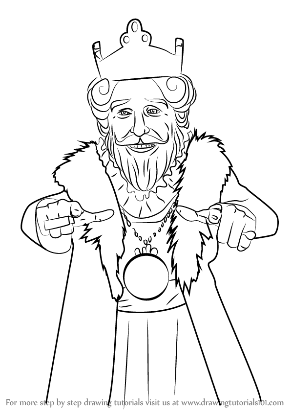 598x844 Learn How To Draw Burger King Mascot (Mascots) Step By Step