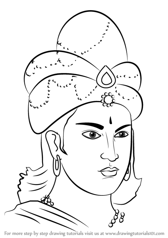 566x800 Learn How To Draw King Ashoka (Emperors) Step By Step Drawing
