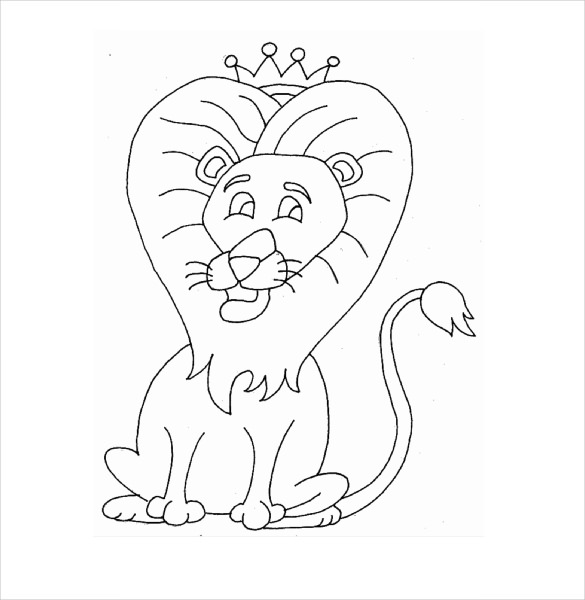 585x600 Lion Drawing Template Free Pdf Documents Download Free