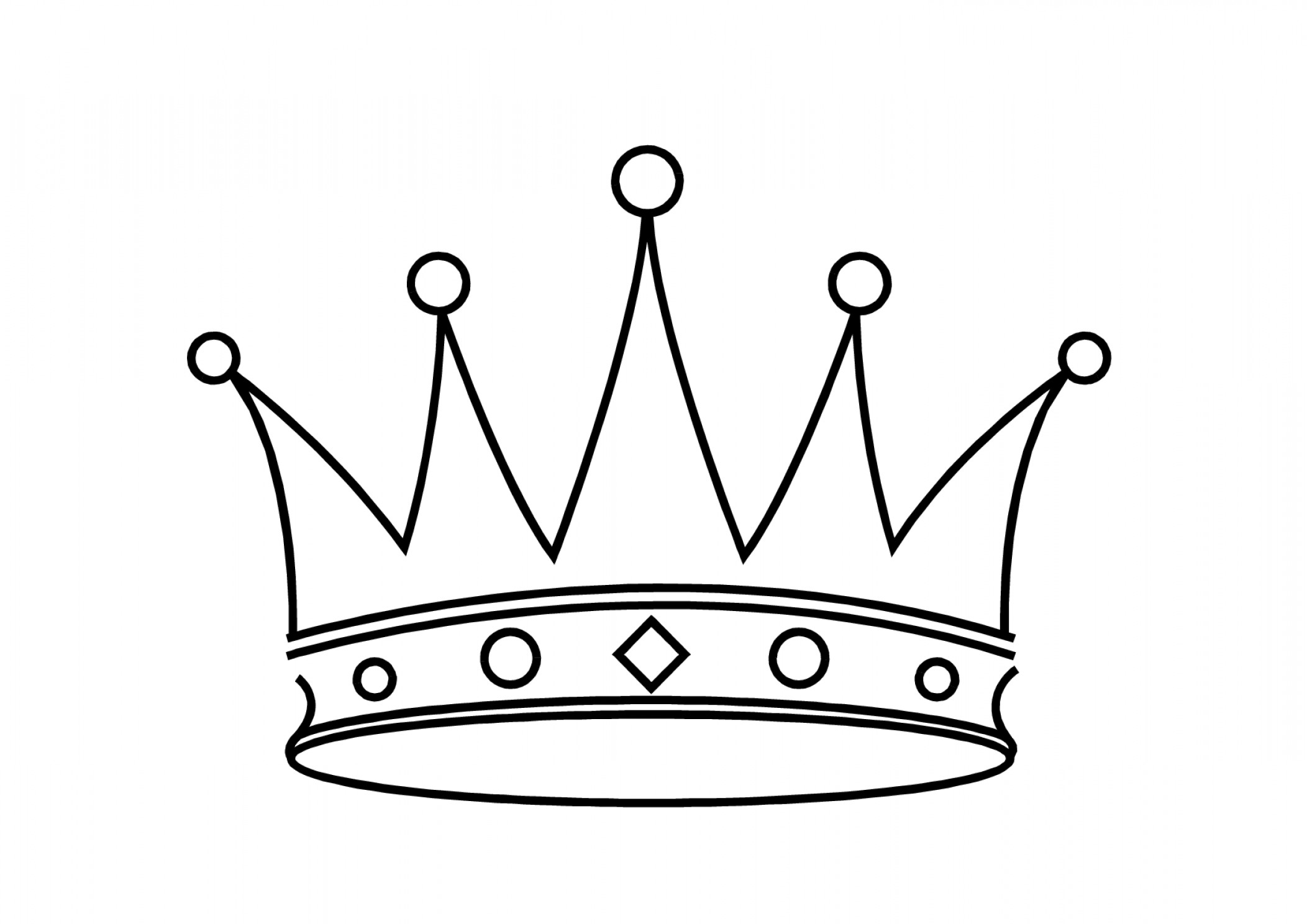 2104x1488 Simple Drawing Of A Crown