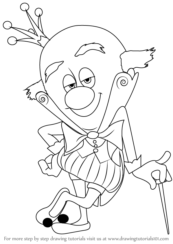 598x844 Step By Step How To Draw King Candy From Wreck It Ralph