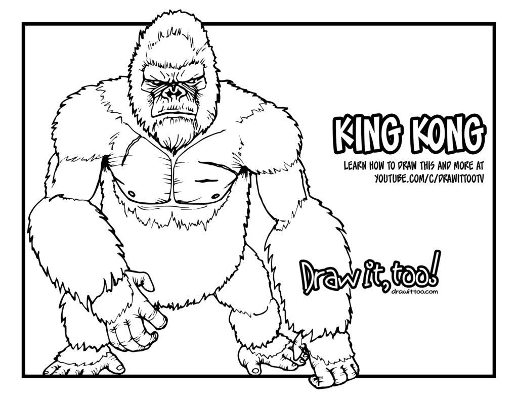 King Kong Drawing at GetDrawings