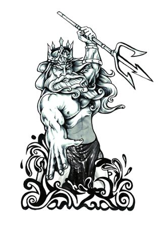 King Neptune Drawing