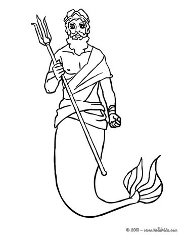 364x470 King Triton With Is Trident Coloring Pages