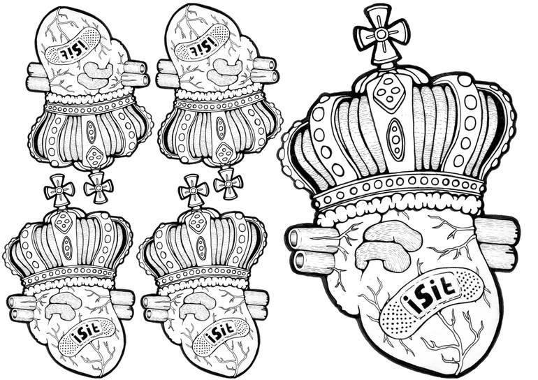 770x544 Saatchi Art Isit King Fo Hearts Drawing By David Davis