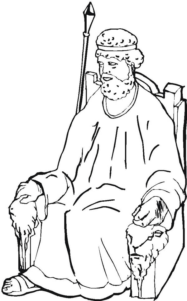 600x966 The Throne Of King Samuel Coloring Page