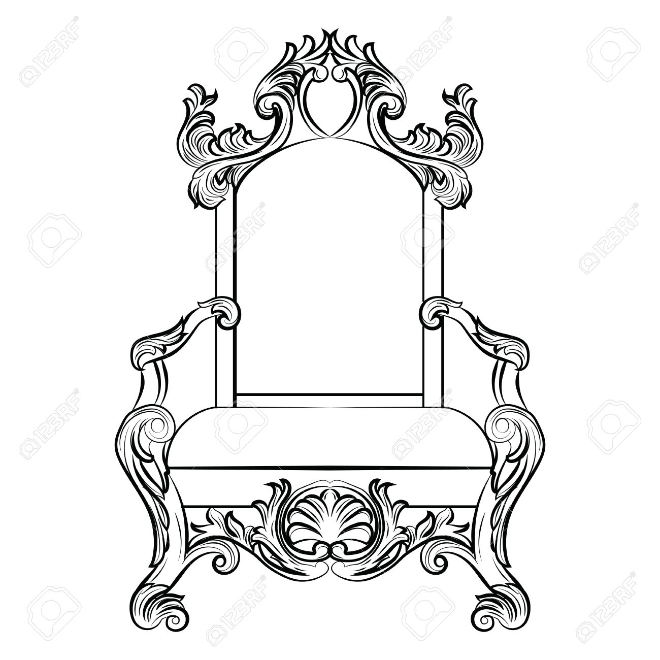 1300x1300 Drawing Of A Throne Drawing Of A Throne Throne Chair Drawing