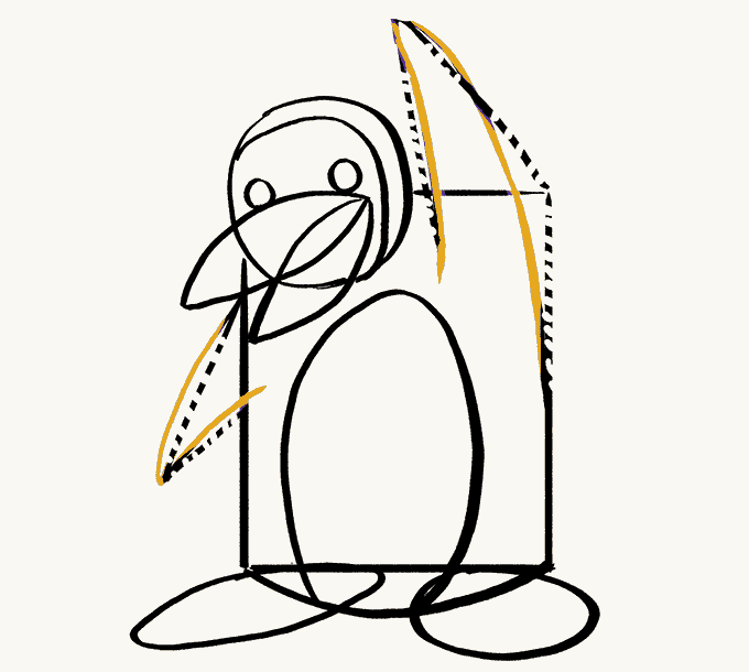 680x610 How To Draw A Cartoon Penguin In A Few Easy Steps Easy Drawing