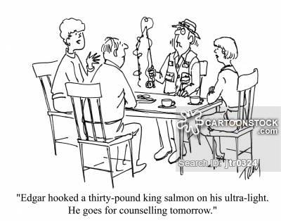 400x314 King Salmon Cartoons And Comics