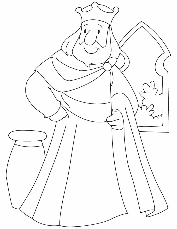 738x954 A King Standing Beside The Window Coloring Pages Stoning Of