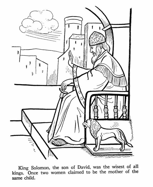 king solomon coloring pages printable - photo#19