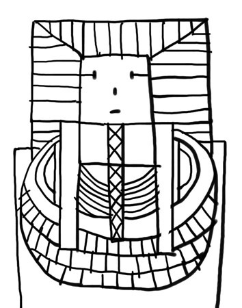 King Tut Drawing