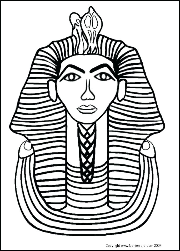 684x954 King Tut Coloring Page 2 Many Interesting Tuts Tomb Murs