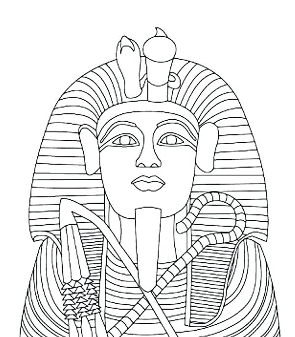 600x687 King Tut Coloring Page Ancient The Outer Layer Of King Tut Gold