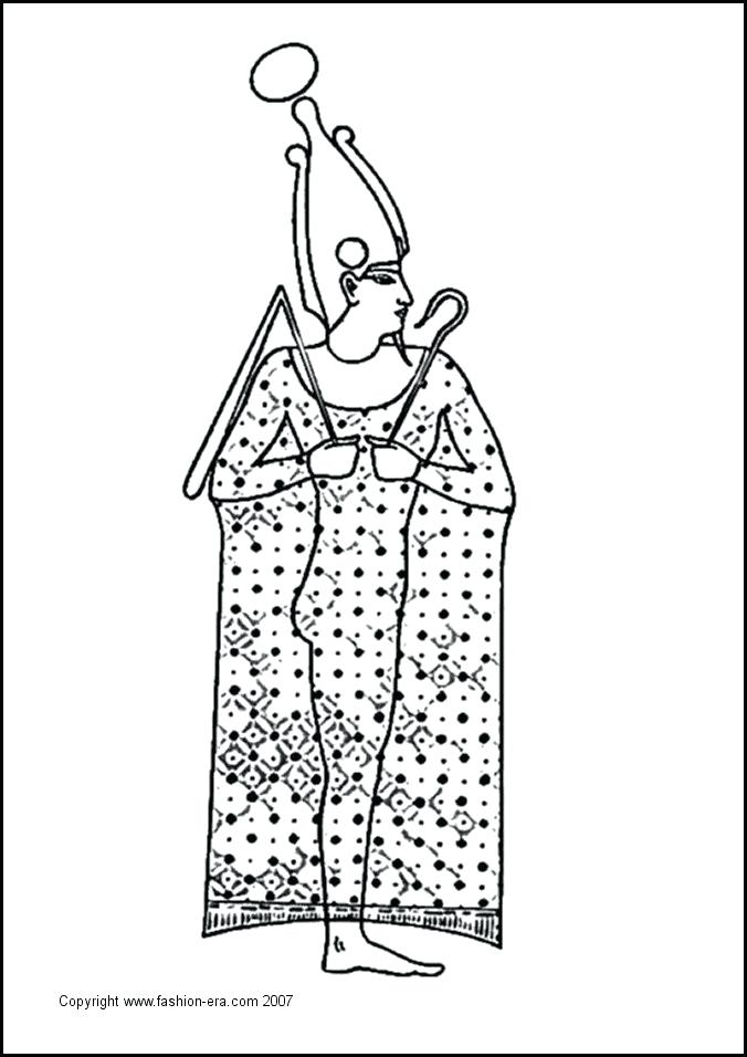 676x956 King Tut Coloring Pages God Coloring In Costume Picture Sketch